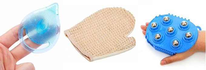 массажные рукавички
