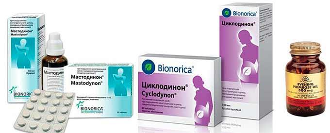 препараты для устранения дискомфорта в МЖ