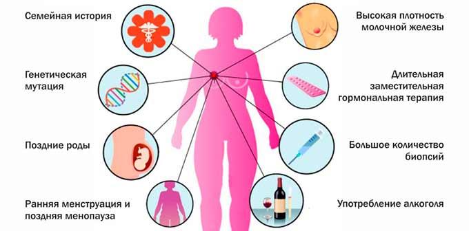 Факторы риска маммологических заболеваний